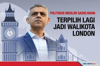 Politikus Muslim Sadiq Khan Kembali Terpilih sebagai Walikota London