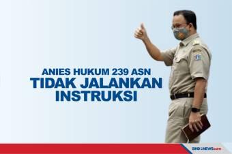 Anies Baswedan Hukum 239 ASN Tidak Jalankan Instruksi