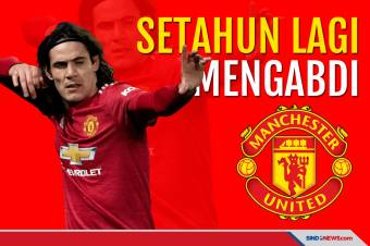 Manchester United Perpanjang Kontrak Edinson Cavani Setahun Lagi