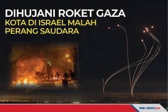 Dihujani Roket Gaza Kota di Israel Malah Perang Saudara