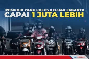 Pemudik yang Lolos Keluar Jakarta Capai 1 Juta Lebih