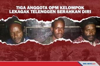 Tiga Anggota OPM Kelompok Lekagak Telenggen Serahkan Diri