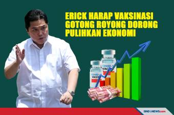 Erick Harap Vaksinasi Gotong Royong Dorong Pulihkan Ekonomi
