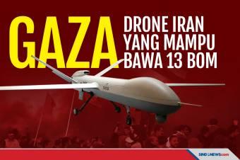 Gaza, Nama Drone Tempur Iran yang Mampu Membawa 13 Bom