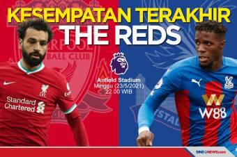 Ingin Tiket Liga Champions, Liverpool Wajib Kalahkan The Eagles