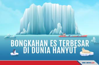 Bongkahan Es Terbesar di Dunia, Sebesar Pulau Majorca Hanyut