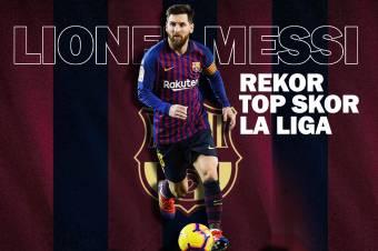 Lionel Messi Pecahkan Rekor El Pichichi Liga Spanyol