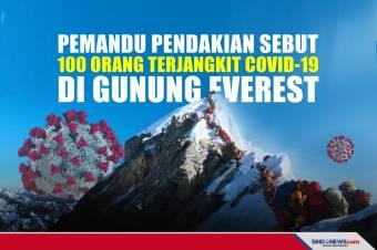 Seratus Orang Terjangkit Covid-19 di Gunung Everest