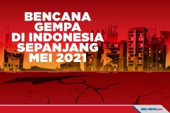 Bencana Gempa Bumi di Indonesia Sepanjang Mei 2021