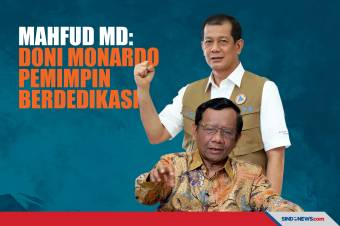 Mahfud MD Sanjung Eks Kepala BNPB Doni Monardo: Pekerja Keras