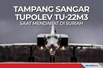 Tampang Sangar Tupolev TU-22M3 Saat Mendarat di Suriah