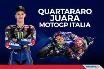 Hasil MotoGP Mugello: Quartararo Petik Podium Pertama