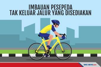 Polda Metro Jaya Imbau Pesepeda Tak Keluar Jalur yang Disediakan