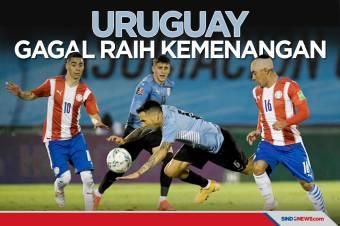 Kualifikasi Piala Dunia 2022: Uruguay Gagal Raih Poin Penuh
