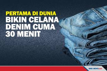 Pertama di Dunia, UMKM Bandung Bikin Celana Denim Cuma 30 Menit