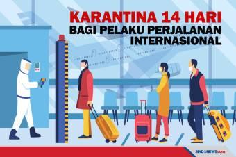 Pelaku Perjalanan Internasional akan Dikarantina 14 Hari