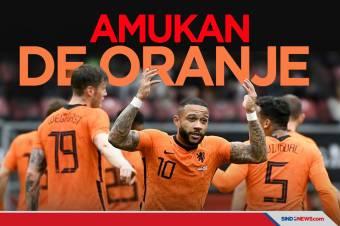 Uji Coba Jelang Piala Eropa 2020: De Oranje Mengamuk