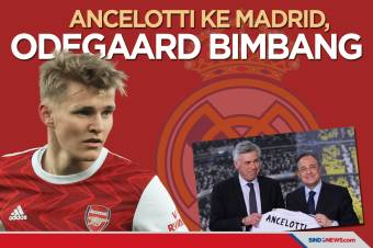 Carlo Ancelotti ke Madrid, Odegaard Bimbang Tentukan Masa Depan