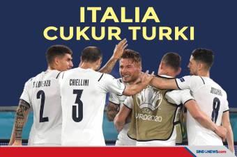 Piala Eropa 2020: Italia Cukur Turki 3-0 di Laga Pertama