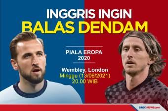 Preview Piala Eropa 2020: The Three Lions Ingin Balas Dendam