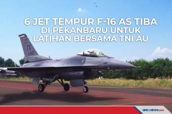 Enam Pesawat Jet Tempur F-16 Milik AS Tiba di Pekanbaru