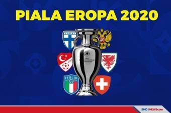 Hasil Pertandingan Piala Eropa 2020, Rabu-Kamis (17/6/2021) WIB