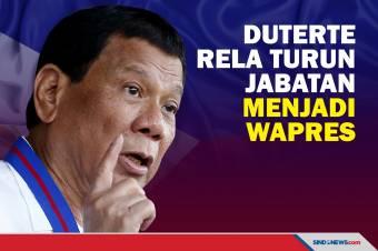 Duterte Rela Turun Jabatan Jadi Wapres setelah Lengser