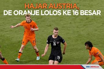 Hajar Austria 2-0, De Oranje Melaju ke 16 Besar Piala Eropa 2020