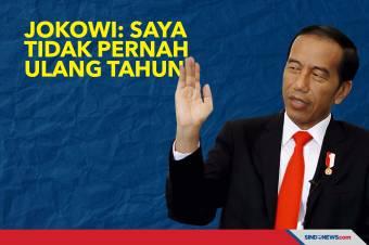 Ultah ke-60, Jokowi Ungkap Tidak Pernah Merayakan Ulang Tahun