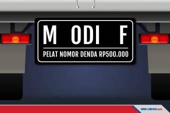 Modifikasi Plat Nomor Bisa Kena Tilang atau Denda Rp500.000