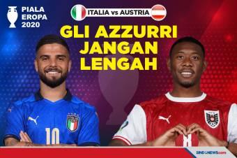 Piala Eropa 2020: Italia Vs Austria, Gli Azzurri Jangan Lengah