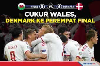 Denmark Lolos ke Perempat Final Piala Eropa Usai Cukur Wales