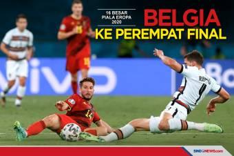 Kalahkan Portugal, Belgia Melaju ke Babak Perempat Final