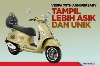 Vespa 75th Anniversary Limited Edition, Tampil Asik dan Unik