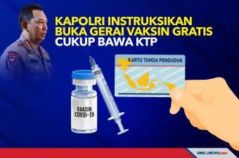 Kapolri Instruksikan Buka Gerai Vaksin Gratis, Cukup Bawa KTP