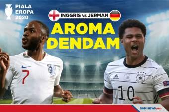 Piala Eropa 2020: Inggris vs Jerman, Aroma Dendam Seperempat Abad