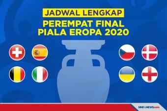 Jadwal Lengkap 8 Tim Lolos ke Perempat Final Piala Eropa 2020