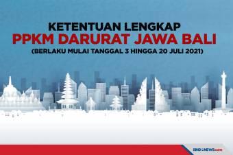 Berlaku 3-20 Juli 2021, Ini Aturan PPKM Darurat di Jawa-Bali