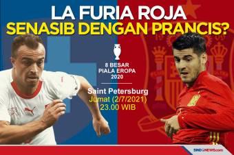 Perempat Final Piala Eropa 2020: Spanyol Senasib dengan Prancis?