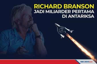 Richard Branson Jadi Miliarder Pertama di Antariksa