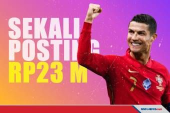 Wow! Sekali Posting Rp23 Miliar, Ronaldo Kalahkan Dwayne Johnson