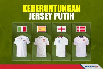 Jimat Keberuntungan Jersey Putih Jelang Semifinal Piala Eropa 2020
