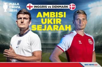 Piala Eropa 2020: Inggris vs Denmark, Ambisi Ukir Sejarah