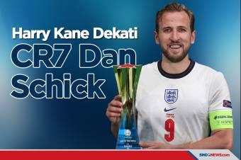 Kane Dekati Schick dan Ronaldo di Daftar Top Skor Piala Eropa
