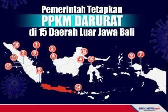 PPKM Darurat, Berlaku Senin Depan di 15 Daerah Luar Jawa-Bali