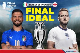 Final Piala Eropa 2020: Italia vs Inggris, Laga Final Ideal