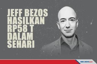 Orang Terkaya Dunia Jeff Bezos Hasilkan Rp58 Triliun dalam Sehari