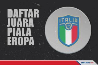 Daftar Juara Piala Eropa: Italia Samai Jumlah Trofi Prancis
