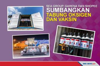 Perusahaan Induk Shopee Sumbang 1.000 Tabung Oksigen