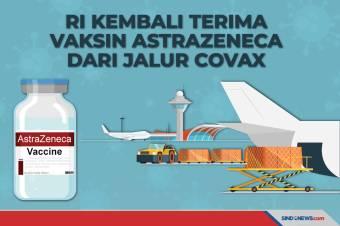 RI Kembali Terima Vaksin AstraZeneca dari Jalur COVAX